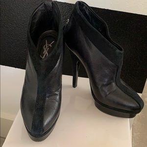 Yves Saint Laurent Black Easy Platform Booties